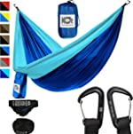 KOR Outdoors Lightweight Camping Hammock with Upgraded Aluminum Carabiners and Quick