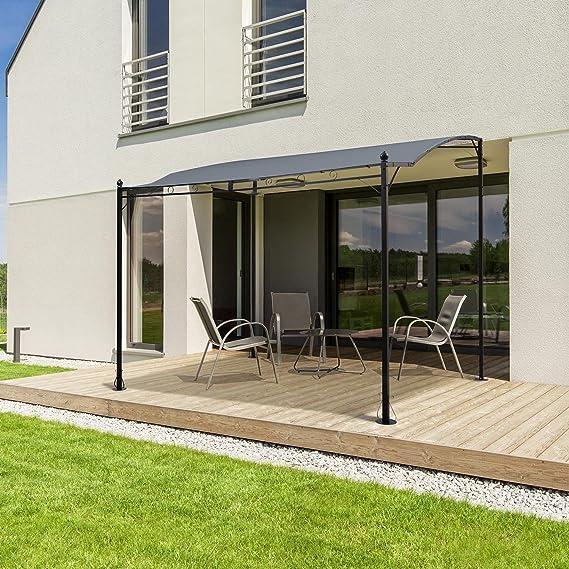 Blumfeldt Allure Roof gris techo de repuesto • tapicería Pergola • toldo terraza • 3 x 2, 5 m • poliéster 180 g/m² • Resistente a la intemperie • Protección Solar • Para Toldo Allure Pergola • Gris: Amazon.es: Jardín