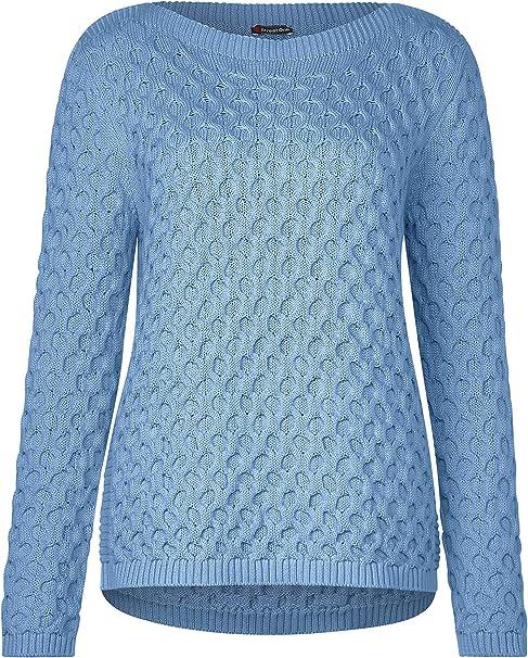 Street One Damen Pullover mit Zopfmuster: : Bekleidung