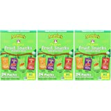 Annies Homegrown JSISzyO Organic Bunny Fruit Snacks Variety Pack (24 ct) - 19.2 Ounce (Pack of 3)
