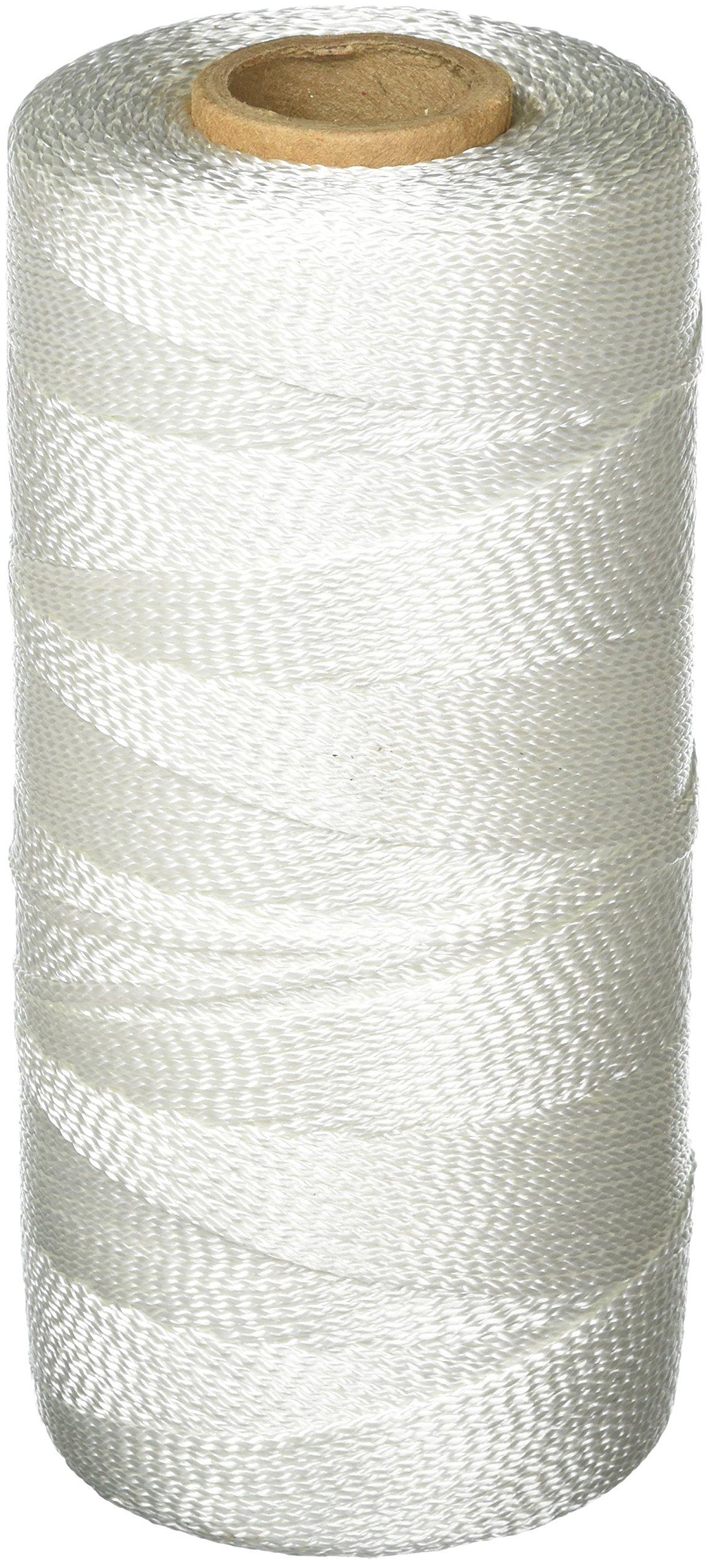 Keson WB1000 18 Gauge Braided Nylon Mason Twine, White, 1,000-Foot by Keson