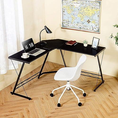 TEAMIX L Shaped Computer Desk 47'' Study Writing Desk