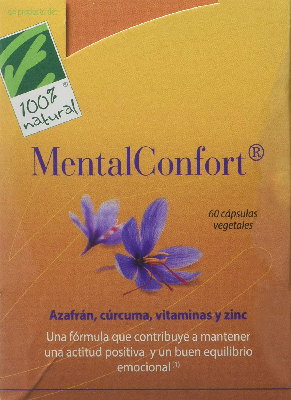 100% natural MentalConfort Suplemento de Hierbas - 60 Cápsulas