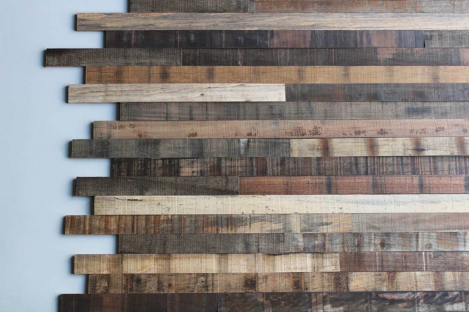 Amazon com: Reclaimed Wood Wall Panel Planks (Tropical