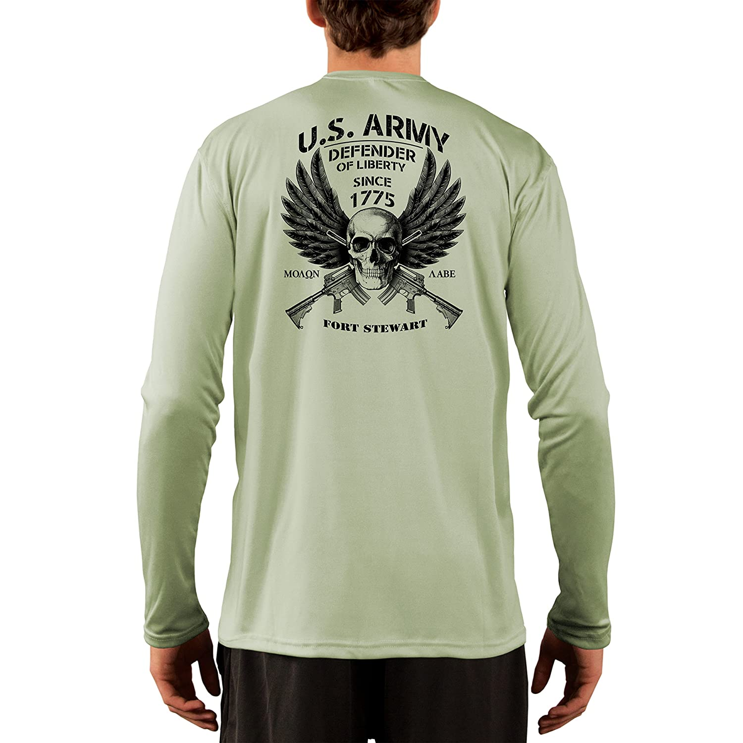 Army Fort Stewart Mens UPF 50 Dead Or Alive Clothing U.S Long Sleeve T-Shirt