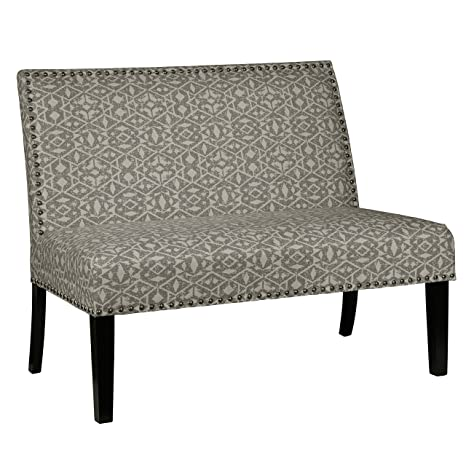 Wondrous Pulaski Ds 2183 400 490 Home Comfort Tribal Print Upholstered Settee Accent Chair 48 5 X 30 X 40 Dove Grey Forskolin Free Trial Chair Design Images Forskolin Free Trialorg