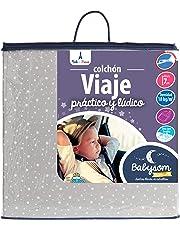 Babysom - Colchón Cuna de Viaje Plegable - 60x120 cm - Altura 7 cm - 100% Algodón - Antiácaros - Desenfundable - Garantía 10 años