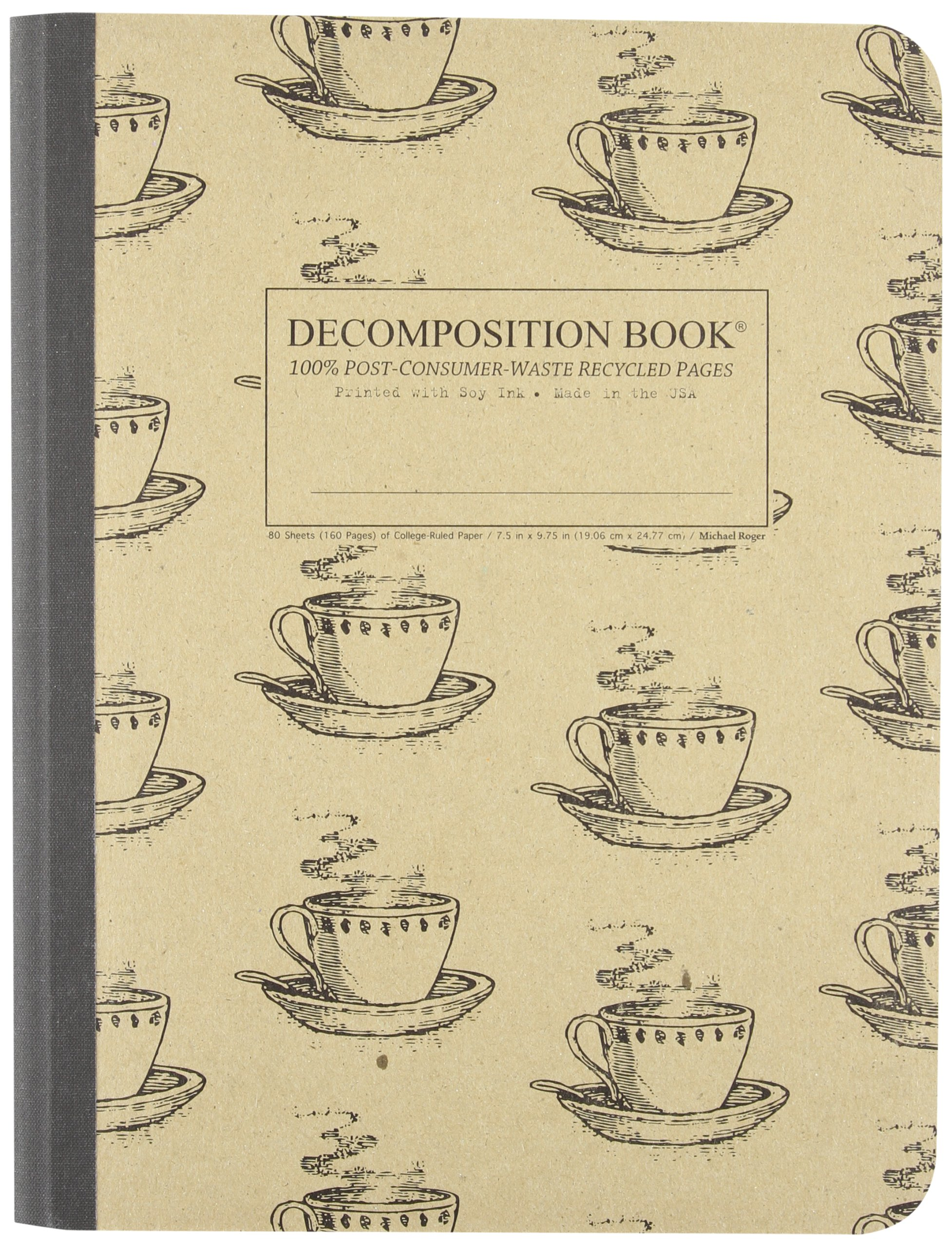 Coffee Decomposition Book College ruled Post consumer waste product image