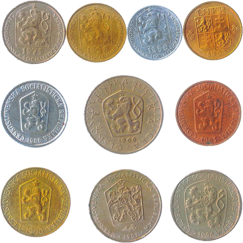 Amazon Com 10 Old Coins From Czechoslovakia Collectible Coins Czech And Slovak 1946 1993 Heller Koruna Koruny Korun Perfect Choice For Your Coin Bank Coin Holders And Coin Album Toys Games