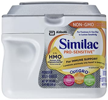 Similac Pro-Sensitive Non-Gmo Baby Formula Powder with Hmo Immune Support, 22.5