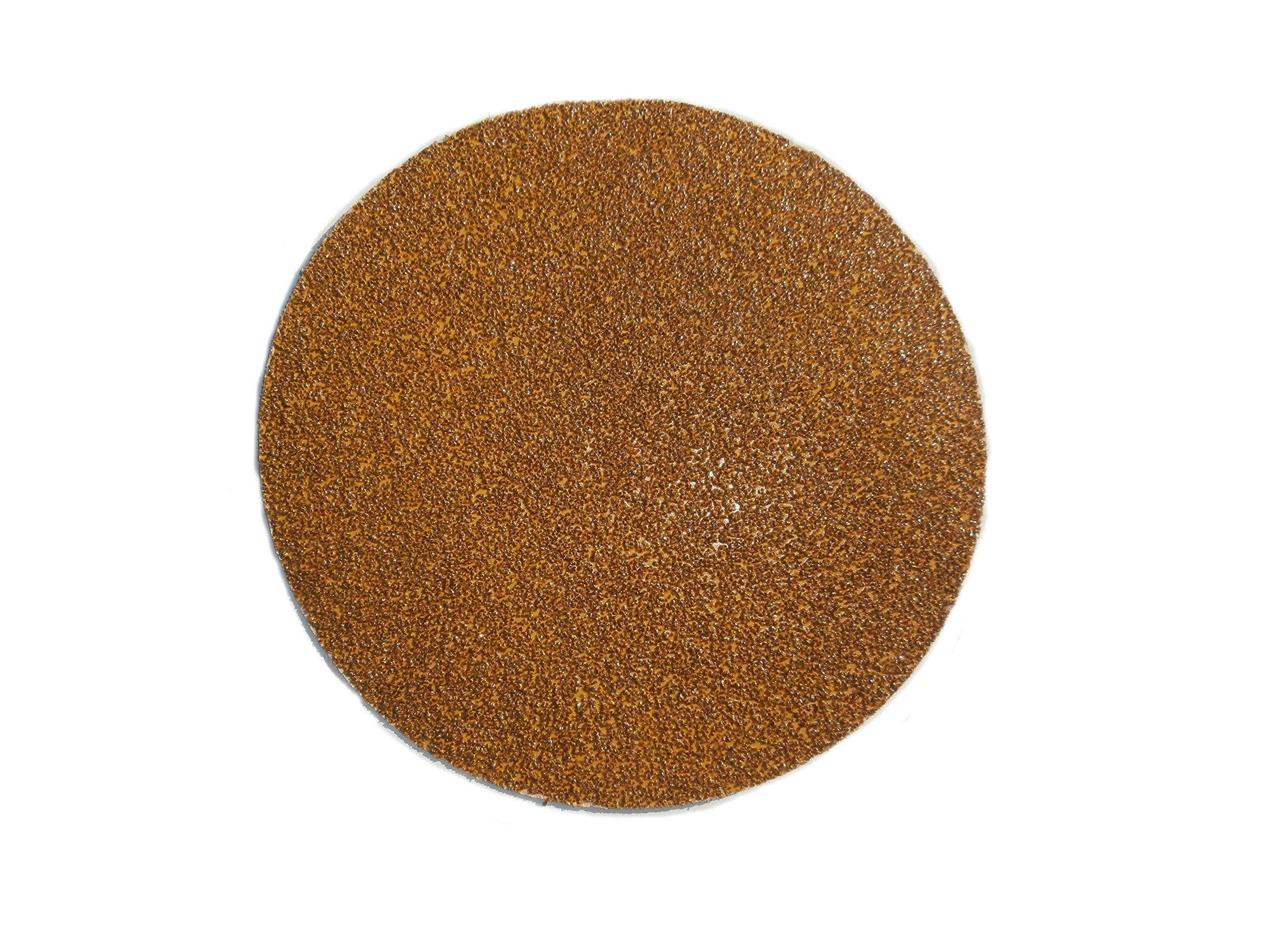 Karebac 8HS36 Abrasives Gold PSA Sticky-Back Aluminum Oxide D-Weight Paper 36 Grit 50 Pack, 8'',