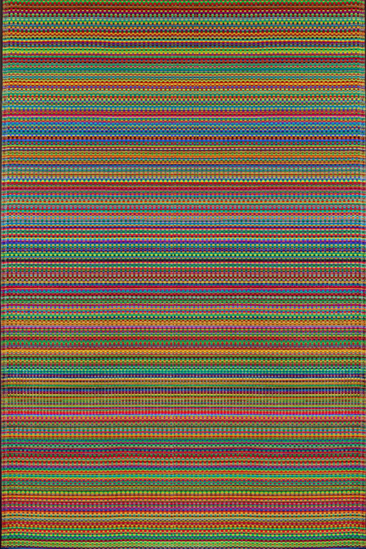 Mad Mats Mix Indoor/Outdoor Floor Mat, 6 by 9 Feet, Rainbow