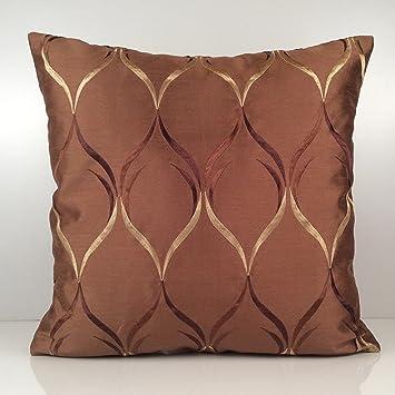 Amazon.com: Cinnamon Copper Pillow, Throw Pillow Cover ...