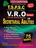 TSPSC VRO Secretariat Abilities Vol-2 { ENGLISH MEDIUM
