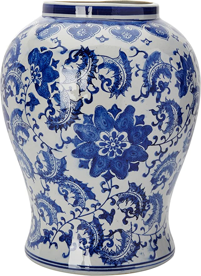 A Chinese Colorful  Kiln Vase with handle 12.5\u201dH