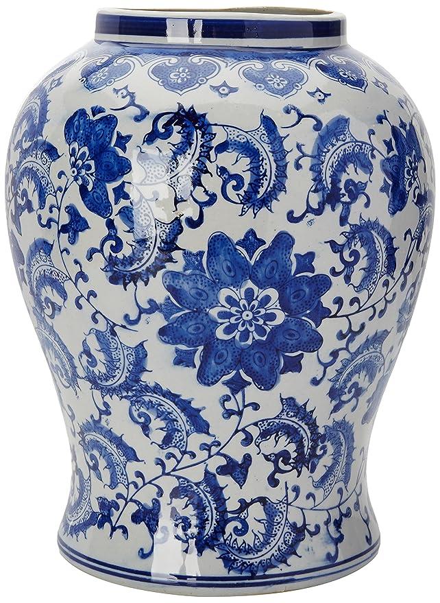 Amazon Oriental Furniture 18 Floral Blue White Porcelain