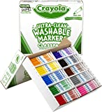 Crayola 200 Ct Ultraclean Washable Markers, Fine Line, 10 Colors (58-8211)