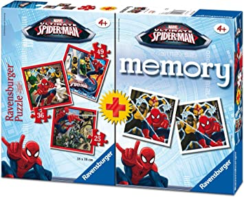 Ultimate Spider-Man Spiderman pack memory y puzzle, 37.1 x 27.9 x ...