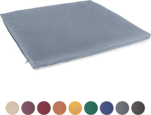 Lotuscrafts Zabuton Meditation Mat Large – 100 Organic Cotton – Washable Cover – Zabuton Mat for Meditation Cushion – Meditation Mattress – GOTS Certified