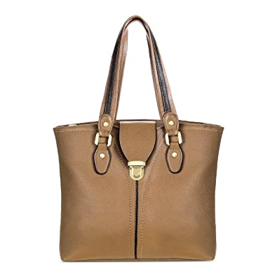 e6f10c02677b Amazon.com  YOLANDO VALEN Tote Bag-Vegan Leather-Soft Touch-With Back Zipper  Pocket nut  Shoes