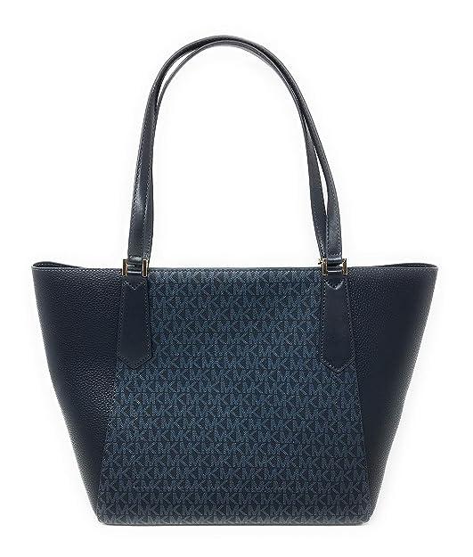 efe5899193a0 New Michael Kors Kimberly Large Bonded Admiral Blue Handbag Tote: Handbags:  Amazon.com