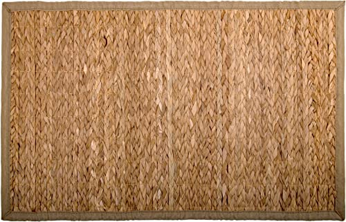 Truu Design Natural Rustic 48 x 72 inches Typha Grass Floor Mat, 20 x 30 , Beige