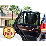 Car Sun Shade(3px) Cling Sunshade For Car Windows - Sun, Glare And UV Rays Protection For Your Child -Side and Rear Window Baby Sunshade By O'Brighton