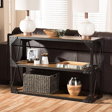 Magnificent Amazon Com Baxton Studio Hudson Rustic Industrial Style Spiritservingveterans Wood Chair Design Ideas Spiritservingveteransorg