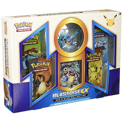 Pokémon Collection Blastoise EX Box, Red/Blue: Toys & Games