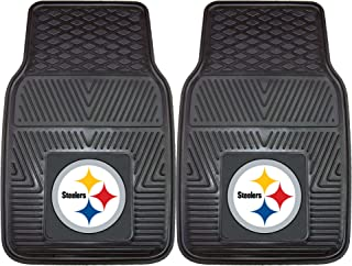 """product image for FANMATS 8752 NFL Pittsburgh Steelers Vinyl Heavy Duty Car Mat, 18""""x27"""""""