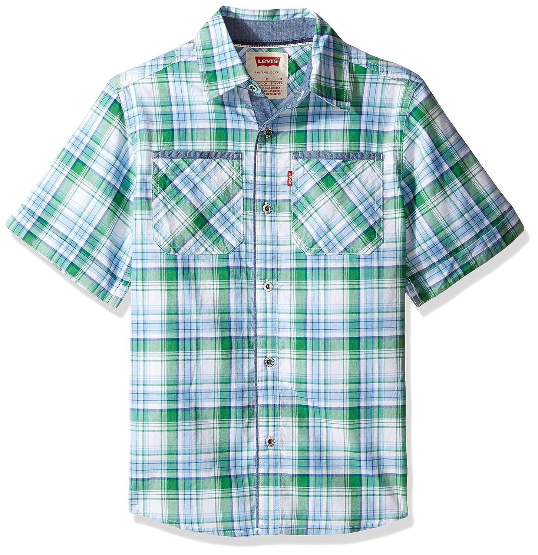 Levi's Boys' Short Sleeve Button Up Shirt Levi' s