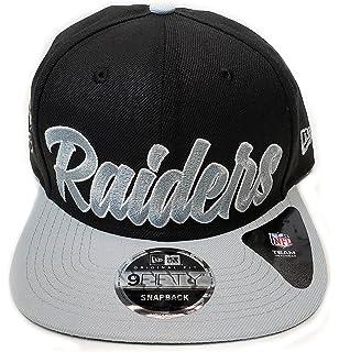 c028ef563c6d6 New Era Og Fits La Oakland Raiders Black White Script Retro Snapback Hat Cap