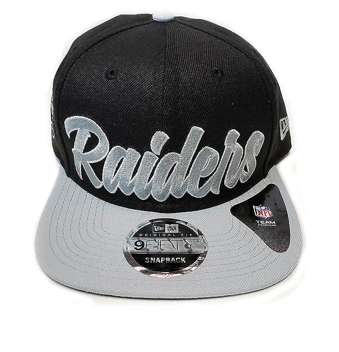 2a6aa58847d New Era Og Fits La Oakland Raiders Black White Script Retro Snapback Hat  Cap  Amazon.ca  Clothing   Accessories