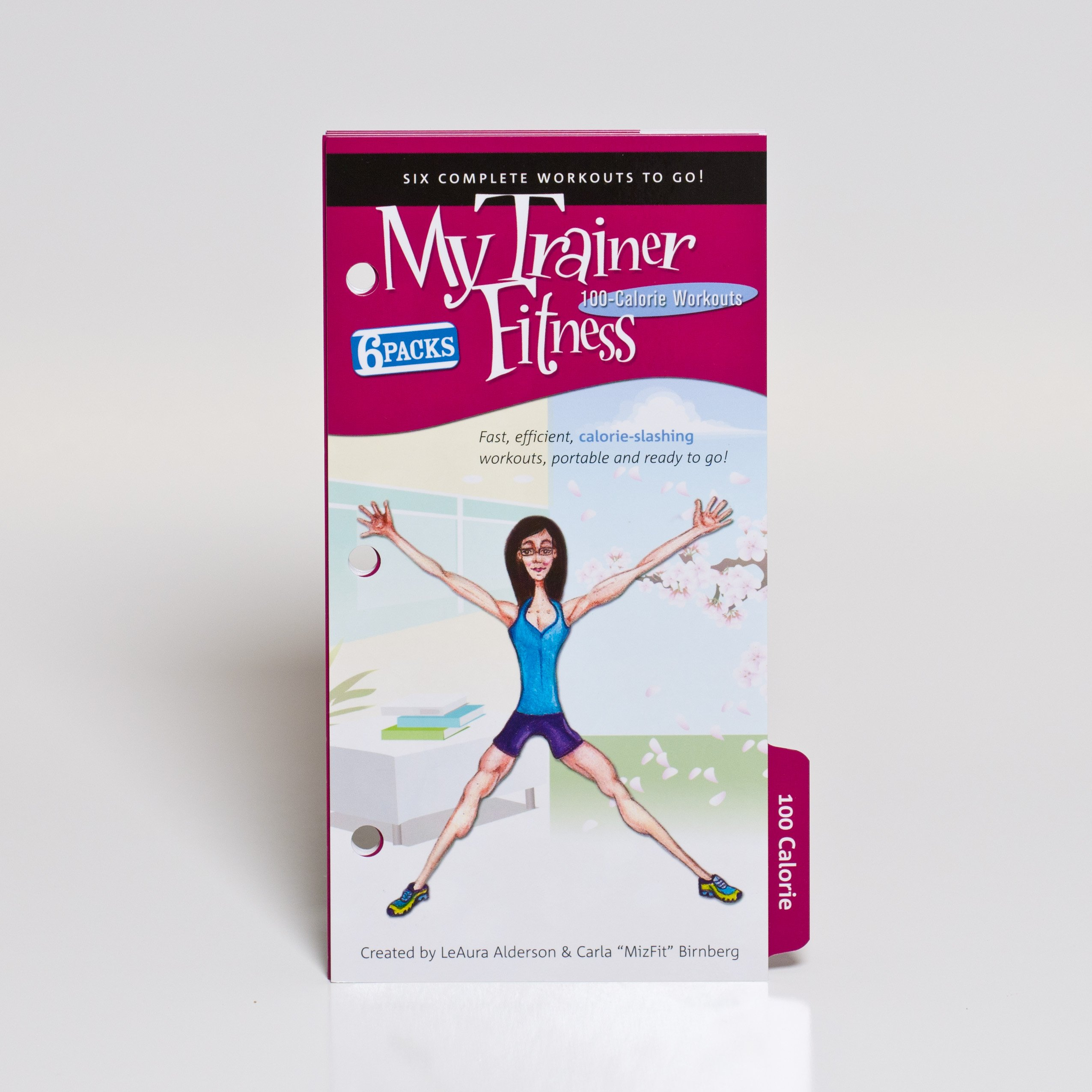 My Trainer Fitness 100 Calorie 6 Pack Workout Plan of six complete workouts-to-go