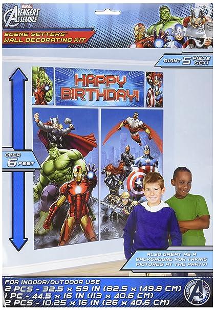Marvel Avengers Scene Setter Wall Decorations Kit