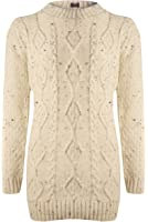 Blush Avenue® Ladies Womens New Chunky Cable Knitted Sleeve Long Pull Over Jumper Top Winter