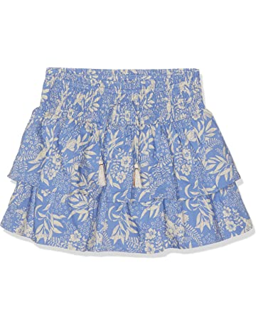 41a1dd5304 Scotch & Soda Girl's Allover Printed Double Layer Ruffle Skirt with Inner  Short
