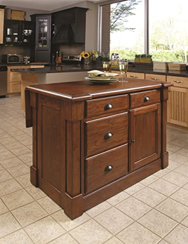 Aspen Rustic Cherry Kitchen Island by Home Styles