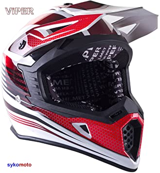 VIPER RS X95 MOTOCROSS MOTO QUAD ATV DIRT ENDURO OFF ROAD DEPORTE CARRERAS MOTO CASCO ROJO