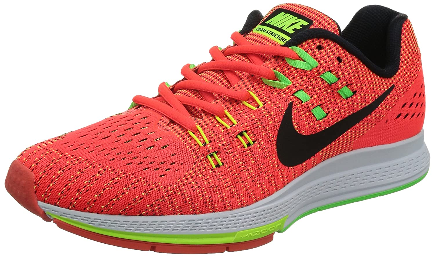 buy popular e18ec b7e2c Nike Men's Air Zoom Structure 19 Brght Crimson/Blk/Vlt/Vltg Grn Running  Shoe 11 Men US