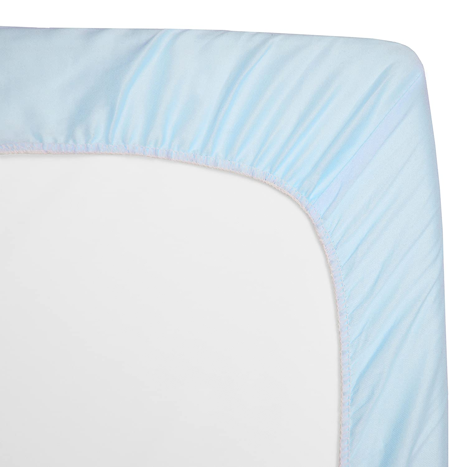 Blue Zigzag American Baby Company 100/% Natural Cotton Percale Fitted Crib Sheet for Standard Crib and Toddler Mattresses for Boys and Girls Soft Breathable