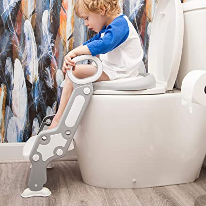 Amazon.com: Potty - Asiento de inodoro con escalera: silla ...
