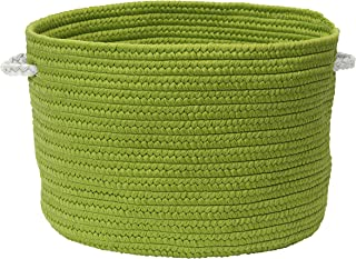"""product image for Colonial Mills Colorful Braided Toy Basket, 20""""x20""""x12"""", Peridot"""