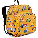 Wildkin 40110 Under Construction Olive Kids 12 Inch Backpack, Pack 'n Snack