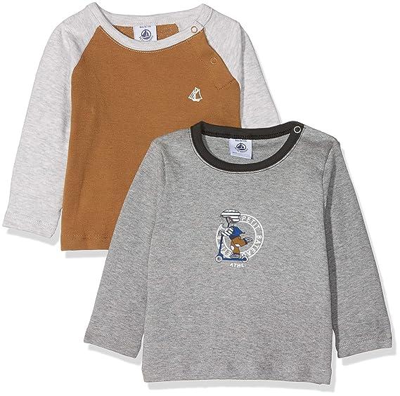Pack de 2 para Beb/és Petit Bateau Camiseta de Manga Larga