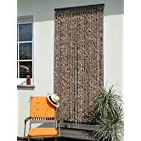 Leguana - Amarillento cortina para puerta chenille 90x200, color blanco