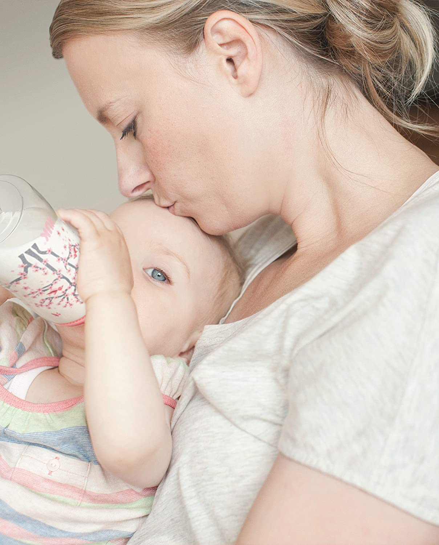 6-18 Monate blau 300 ml Pp Snow BPA-frei kiefergerechter Silikon-Trinksauger NUK First Choice+ Babyflasche