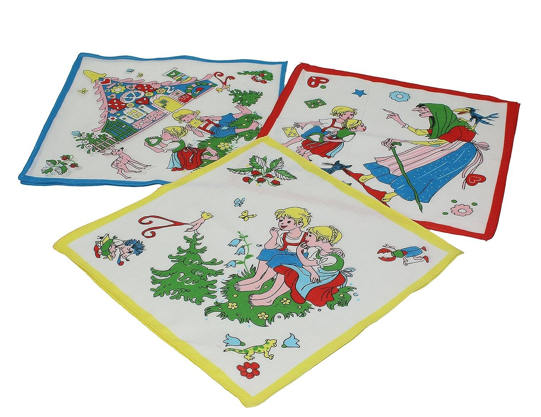 Betz. Set di 12 fazzoletti per bambini al motivo fiabesco, misure 26 x 26 cm, 100 % cotone, design 7