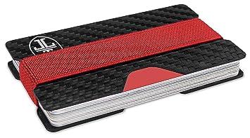 21f02992296ea TRAVANDO ® Carbon Slim Wallet Herren Kreditkartenetui RFID Blocker  Minimalisten Kleiner Geldbeutel Space Kreditkartenhalter Karten Portemonnaie