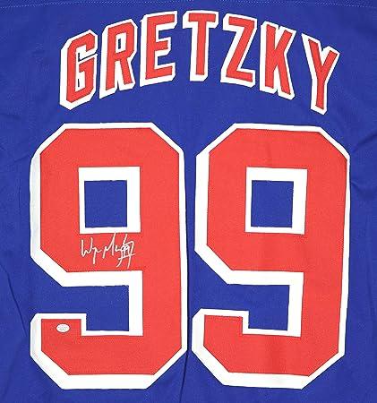 f5ffe91a8 Wayne Gretzky New York Rangers Signed Autographed Blue  99 Custom Jersey  PAAS COA